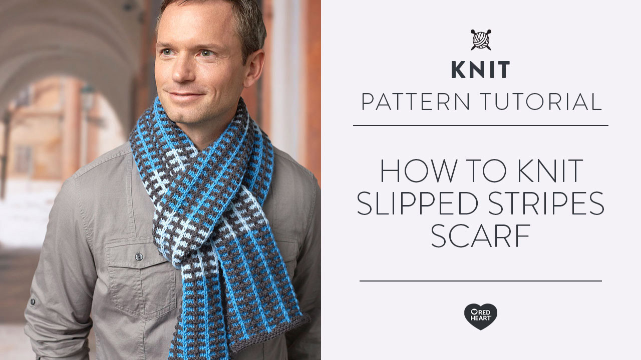 How to Knit Slipped Stripes Scarf