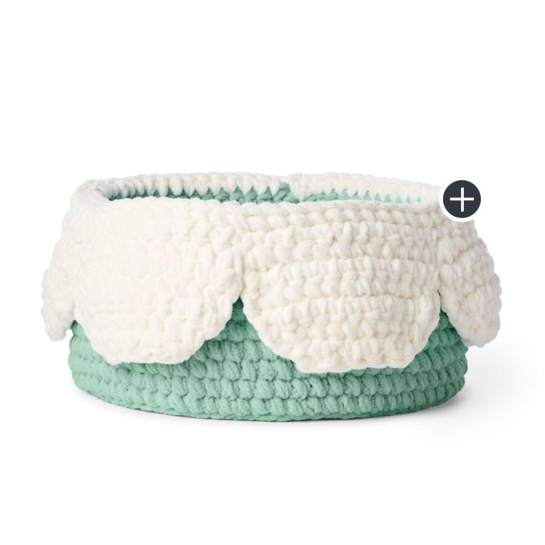 Crochet Petal Basket