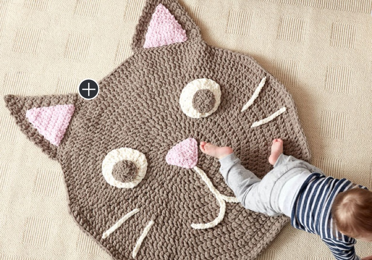 Easy Purrfect Crochet Play Rug