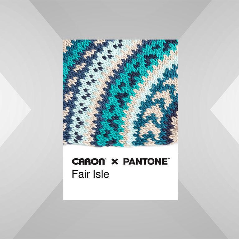 Caron x Pantone Fair Isle Chip
