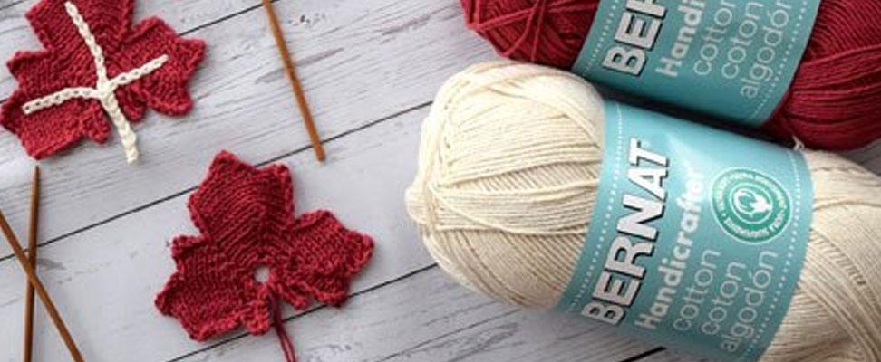Maple Leaf Knit Appliques