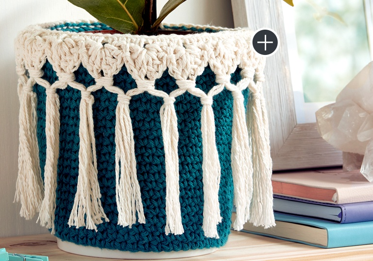Easy Little Potted Plant Crochet Cozy