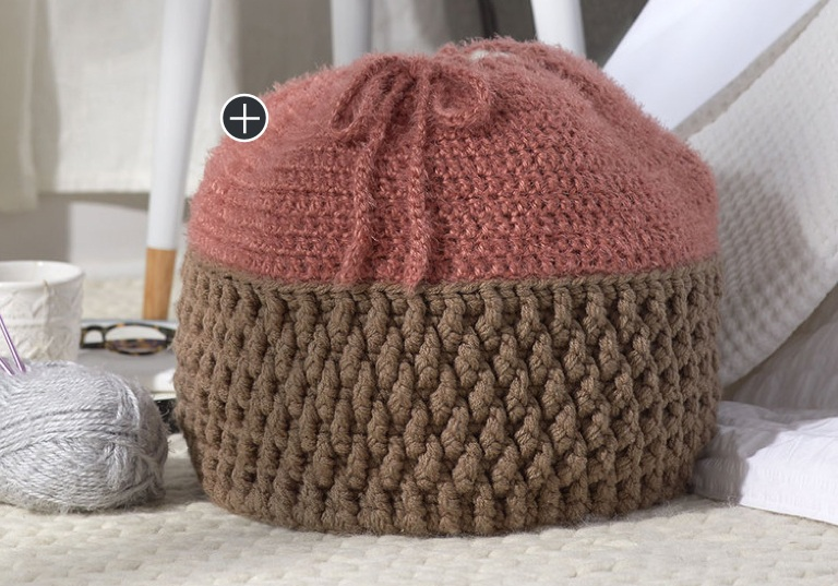 Easy Crochet Drawstring Basket