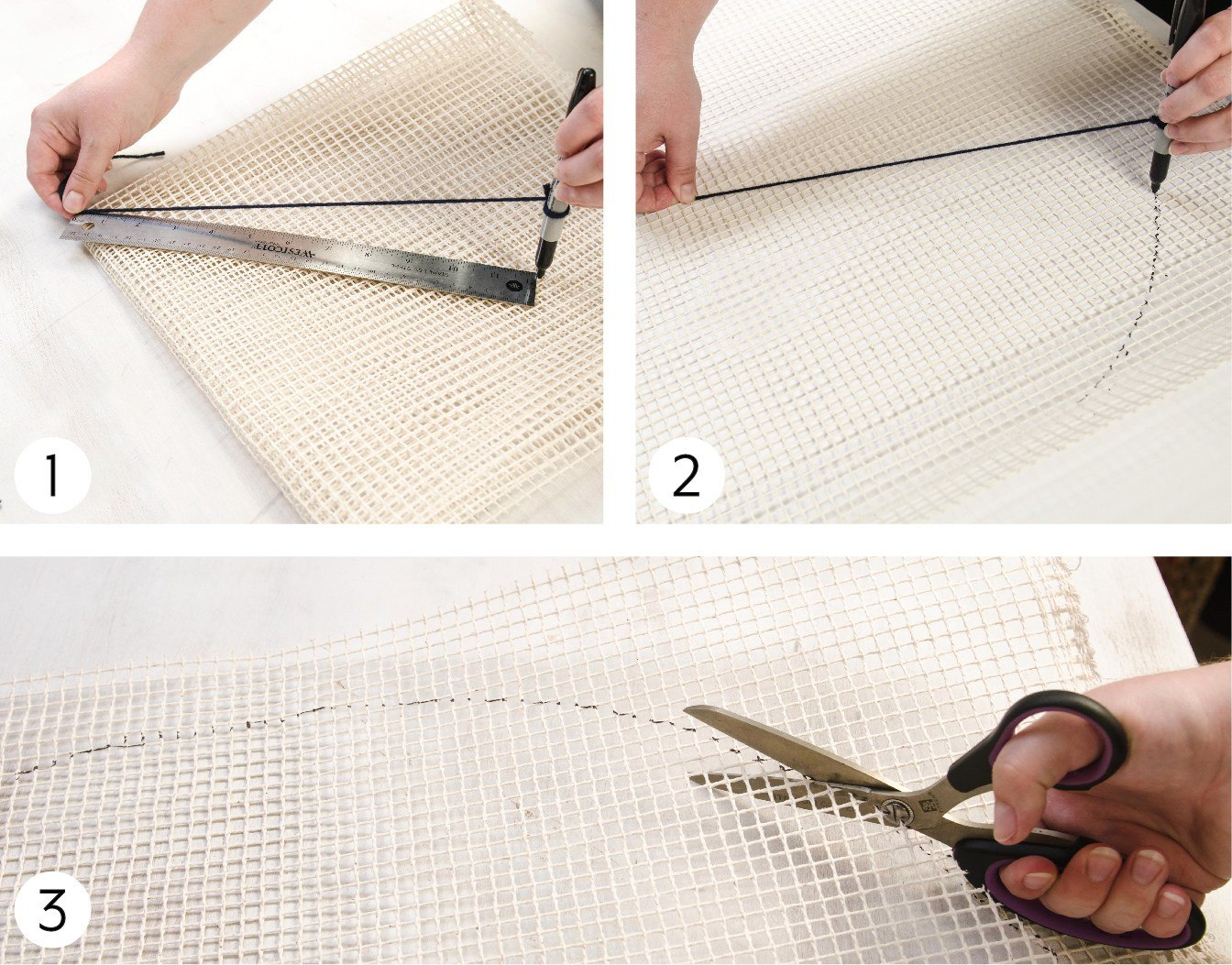 Making a Pompom Wall Hanging Steps 1 - 3 Images