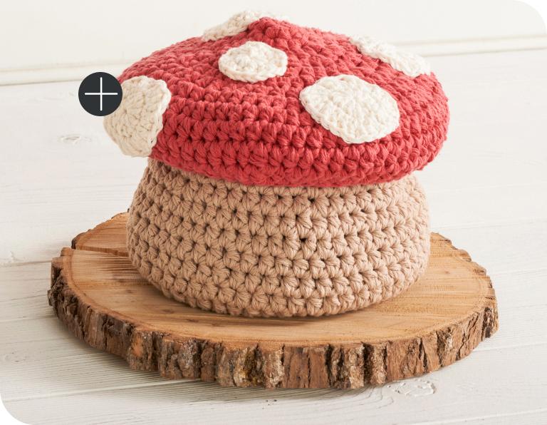 image of Lily Sugar'n Cream Crochet Lidded Toadstool Basket