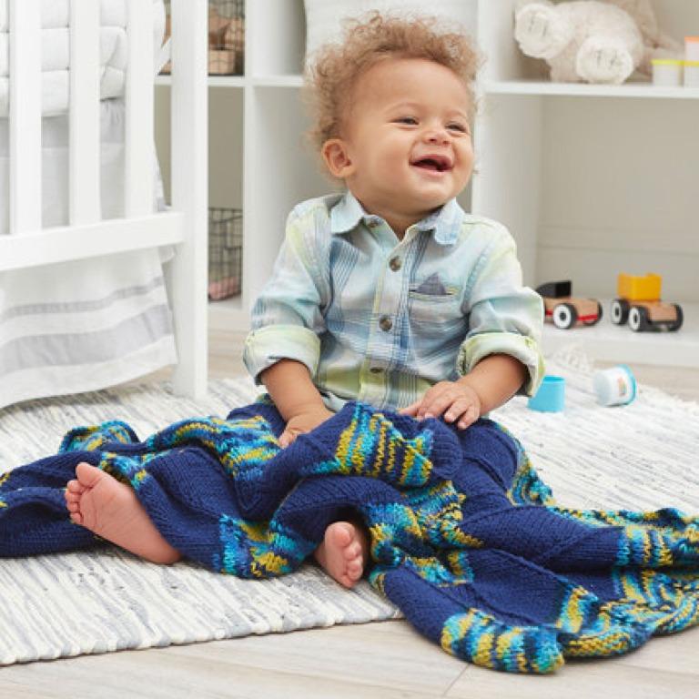 Easy Knit Blanket for Playtime