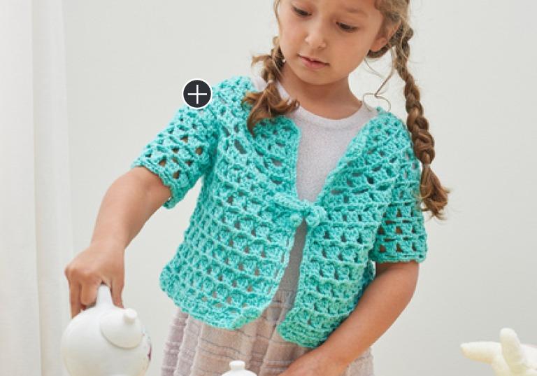 Easy Tea Party Crochet Cardigan