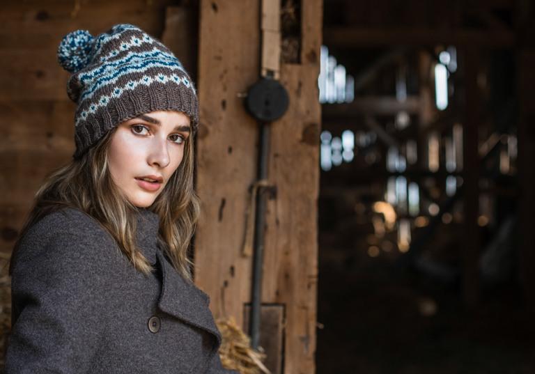 Intermediate Frosted Fair Isle Knit Hat