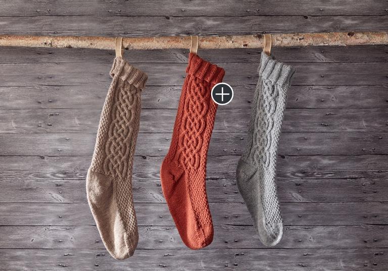 Intermediate Sugar Twist Knit Stocking