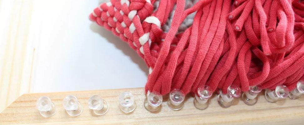 Frame Weaving with Bernat Maker Home Dec yarn Step 5.2