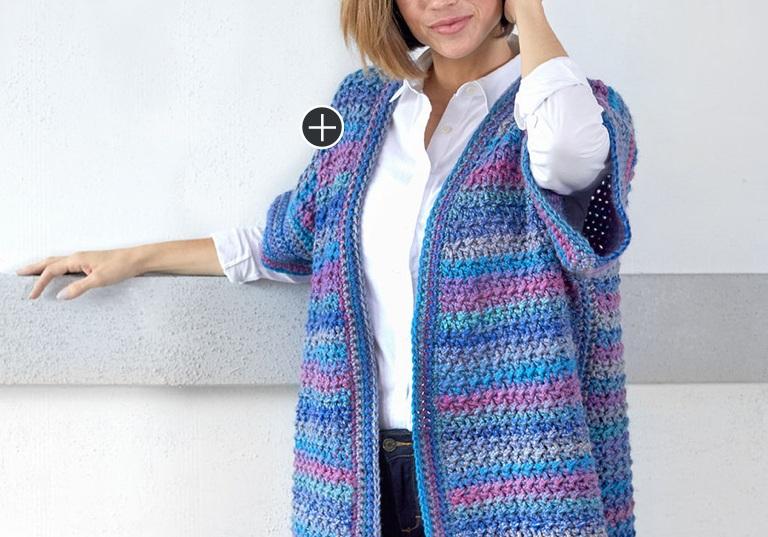 Easy World Traveler Long Crochet Cardigan