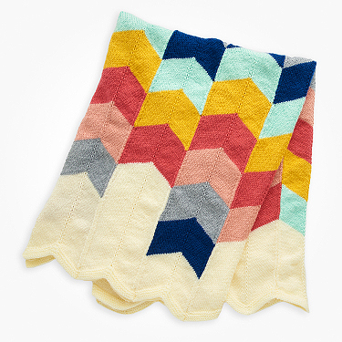 Bernat chevron knit baby blanket