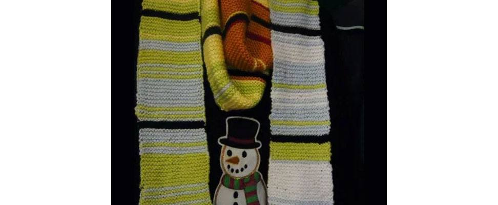Completed Temperature Scarves