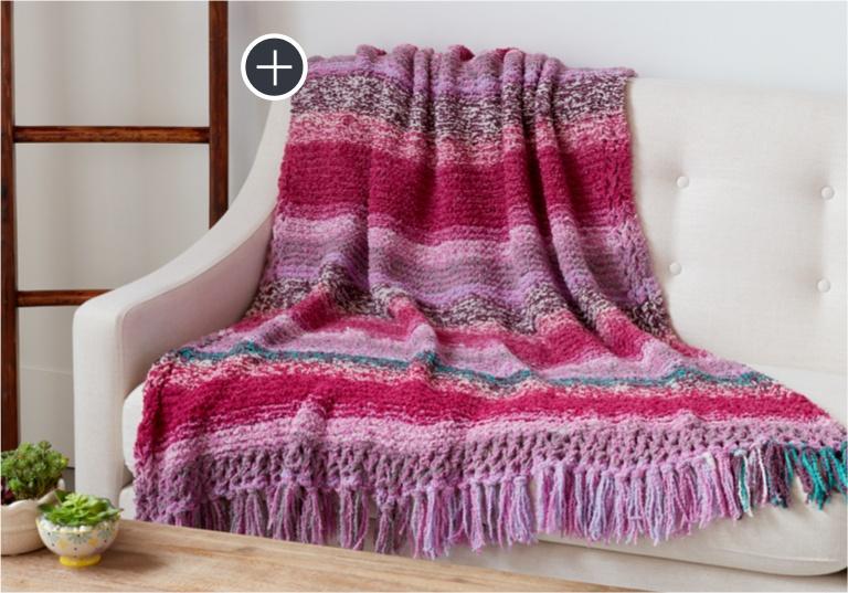 Intermediate Wrapped in Heather Knit Blanket