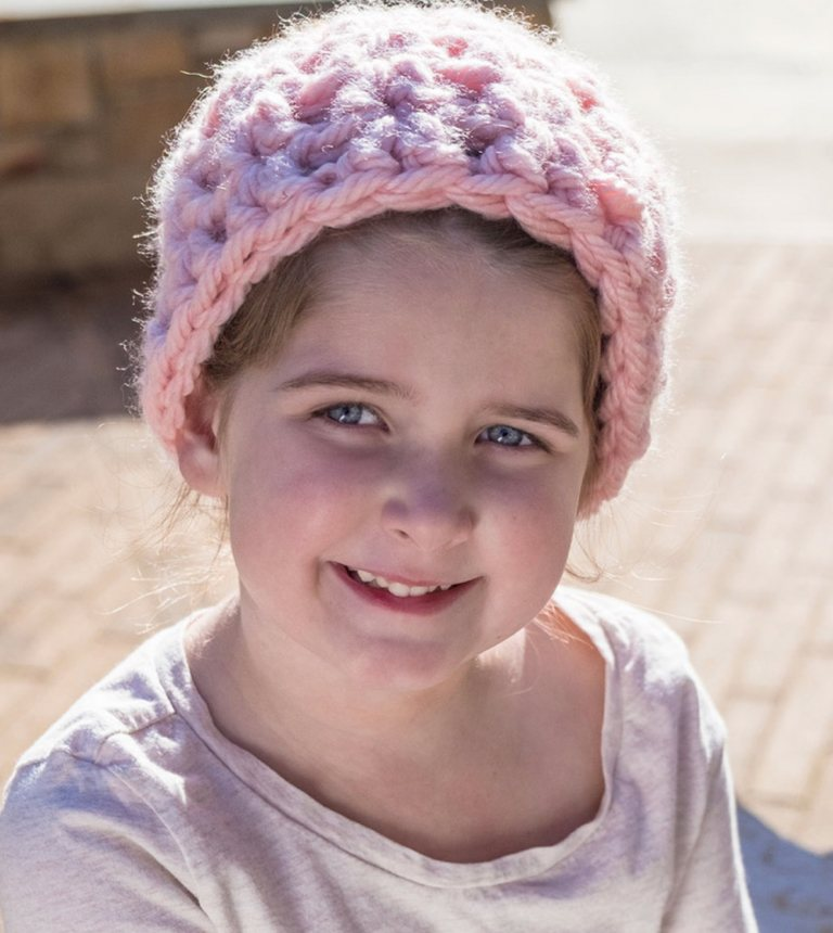 Beginner Child's Messy Bun Hat