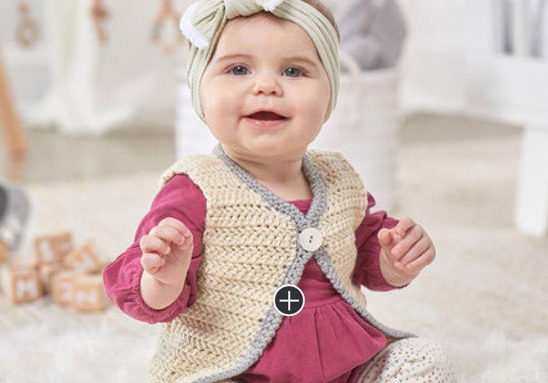 Easy Classic Crochet Baby Vest