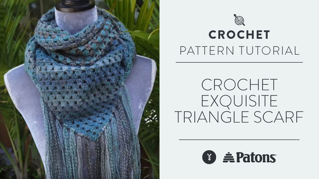 Crochet Exquisite Triangle Scarf