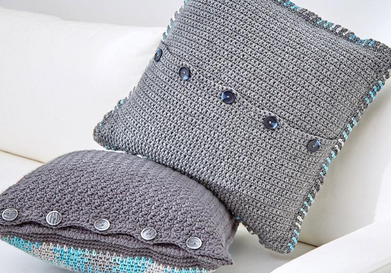 Intermediate Crochet Argyle Pillows