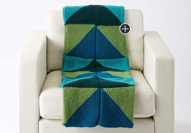 Easy Mountaintop Knit Blanket