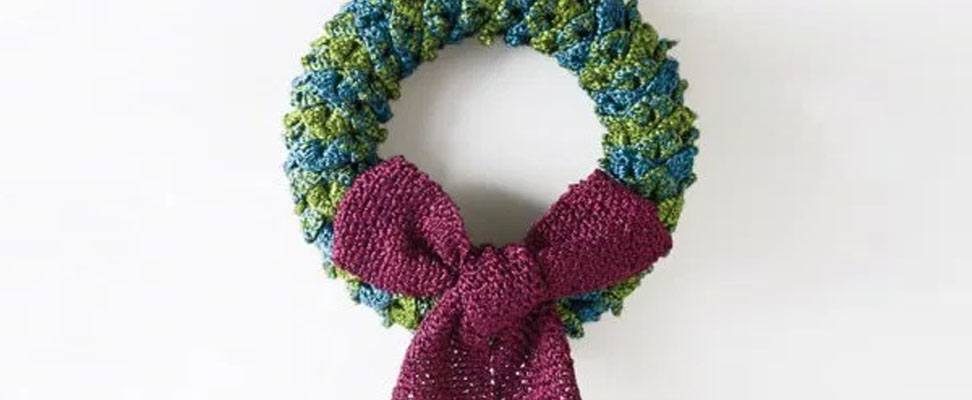 Glittery Yarn Wreath