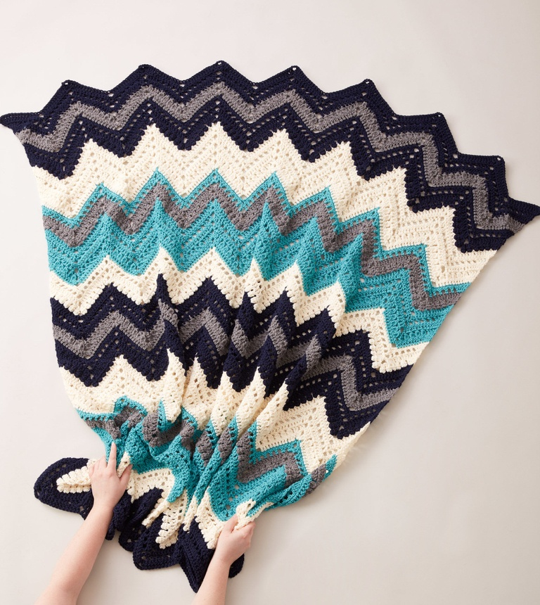 Easy Crochet Chevron Blanket