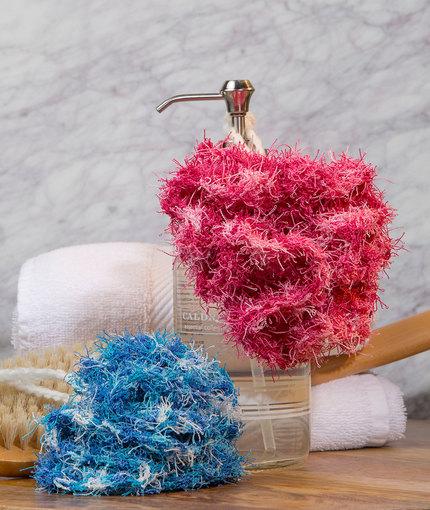 Scrubby Bath Poufs Free Crochet Pattern LW5170