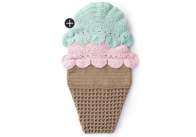Intermediate Double Scoop Crochet Snuggle Sack