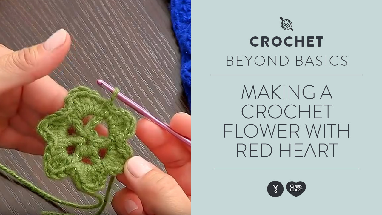 Learn Making a Crochet Flower
