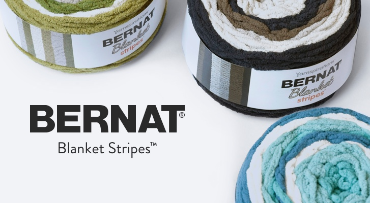 Introducing Bernat Blanket Stripes!