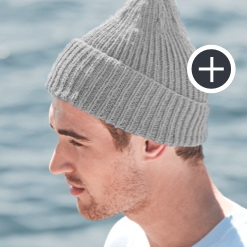 Intermediate Ribbed Knit Beanie