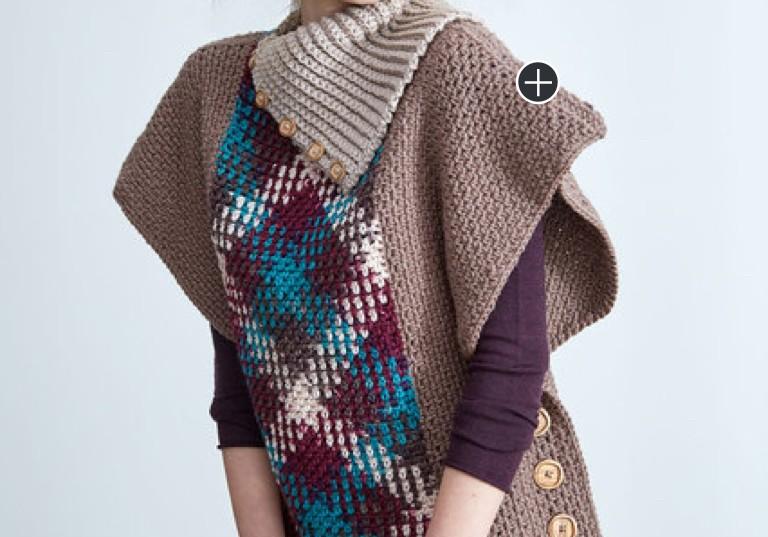 Easy Crochet Argyle Pullover