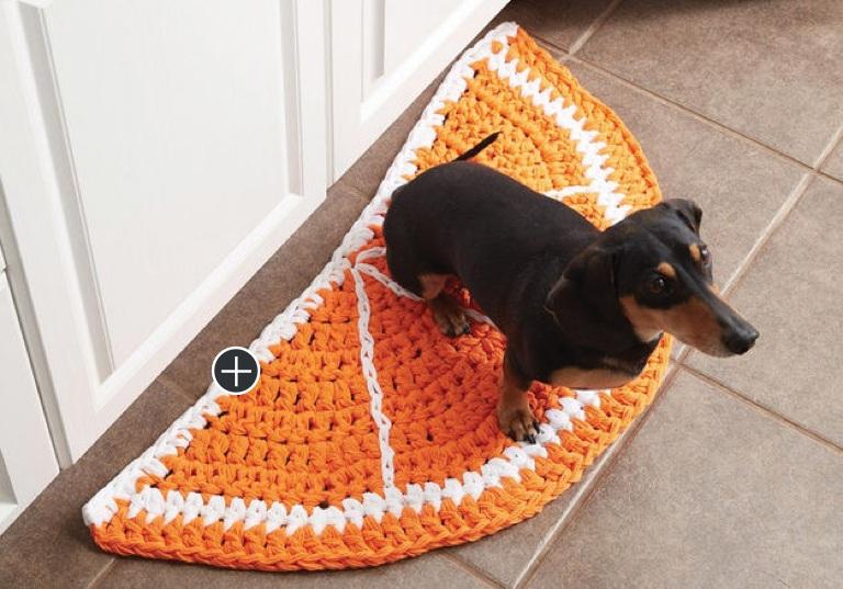 Easy Citrus Slice Crochet Rug