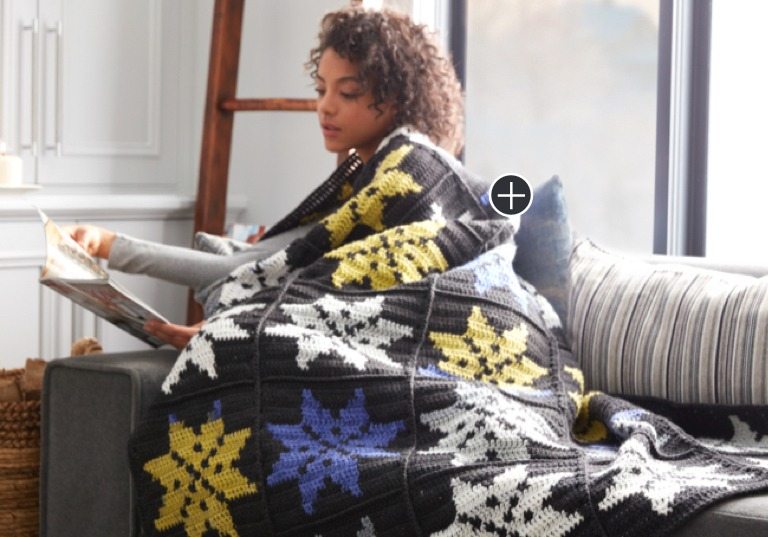 Intermediate Snowflake Crochet Blanket