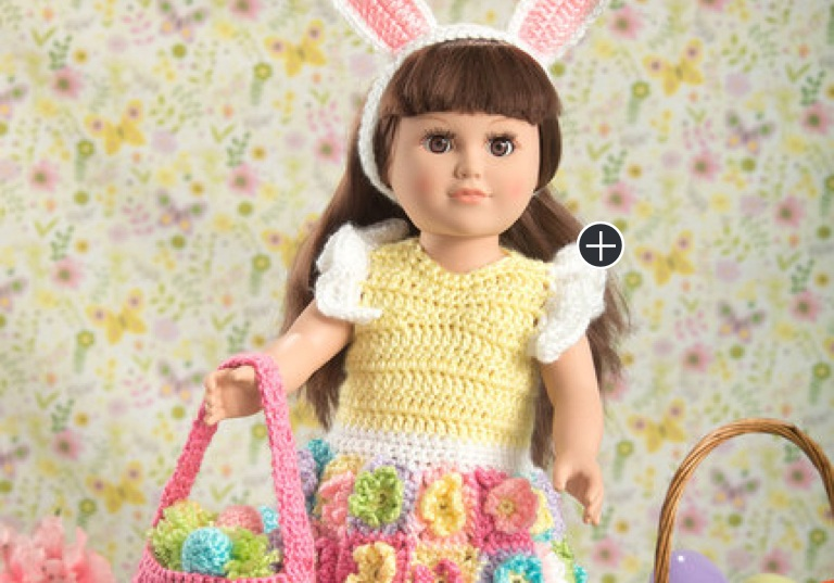 Easy My Doll's Crochet Easter Frock
