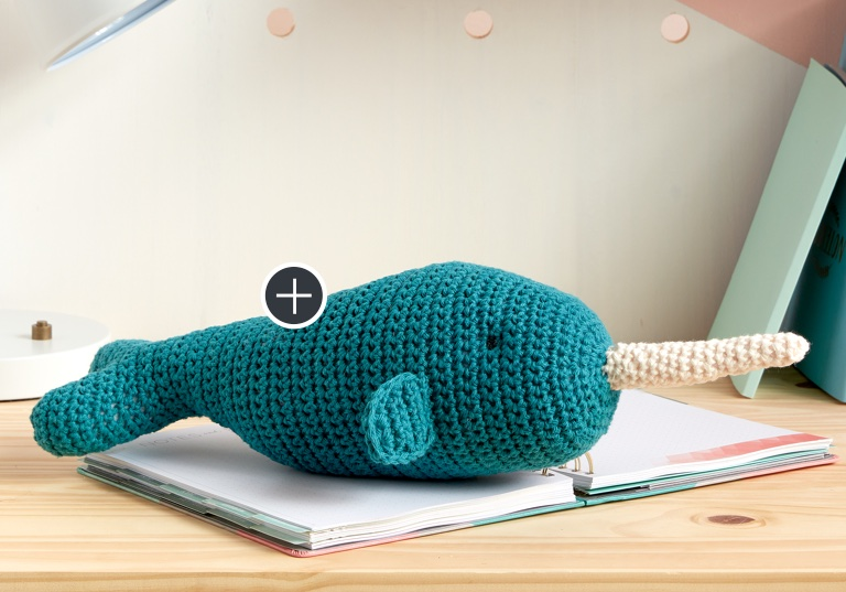 Easy Ned The Narwhal Crochet Toy