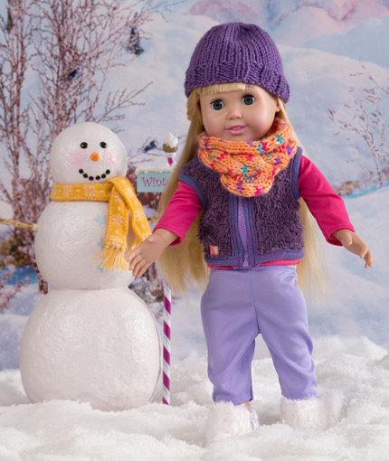 Doll-Sized Cowl & Beanie