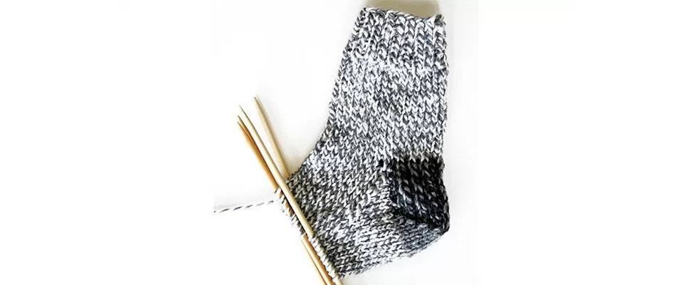 Knit Slouchy Socks Shape Instep 2