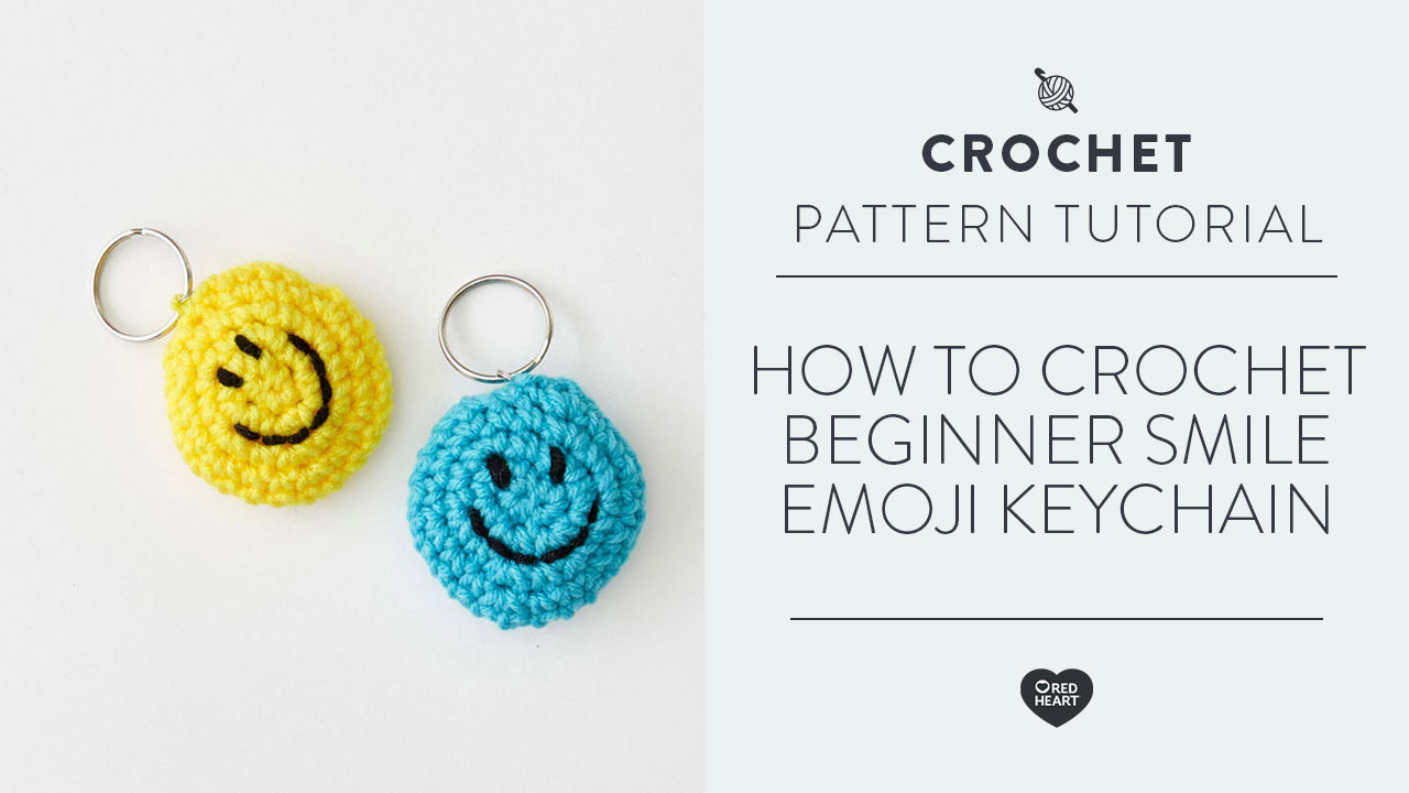How to Crochet Beginner Smile Emoji Keychain