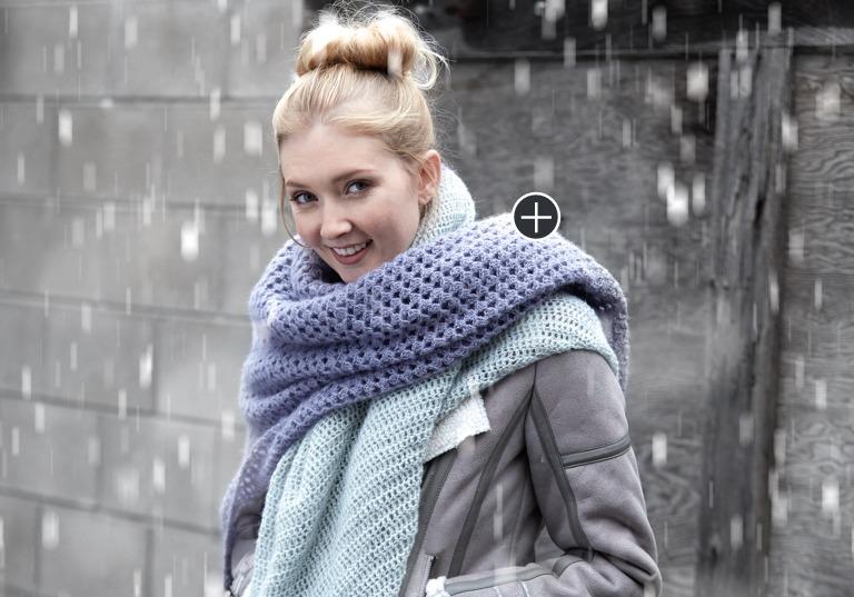 Easy Crochet Lace Blanket Scarf