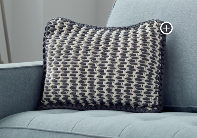 Easy Woven Look Crochet Pillow