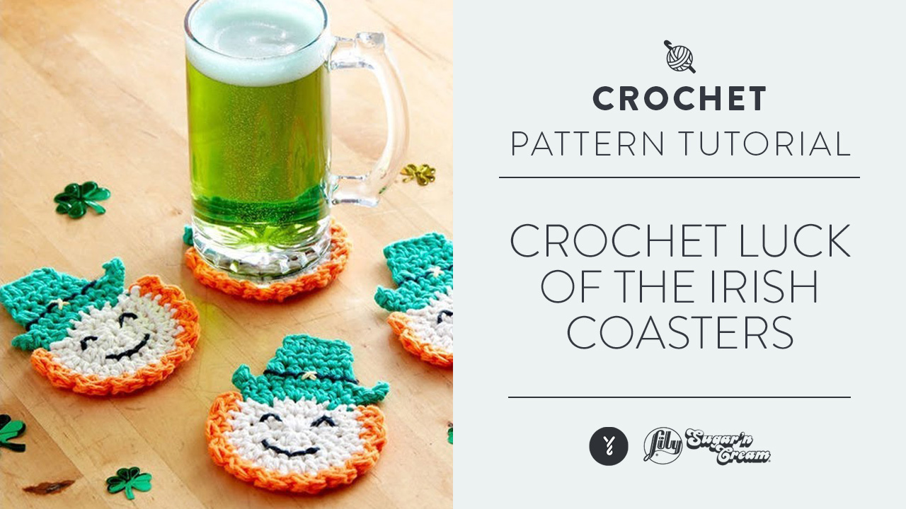 Crochet Luck of the Irish Coasters