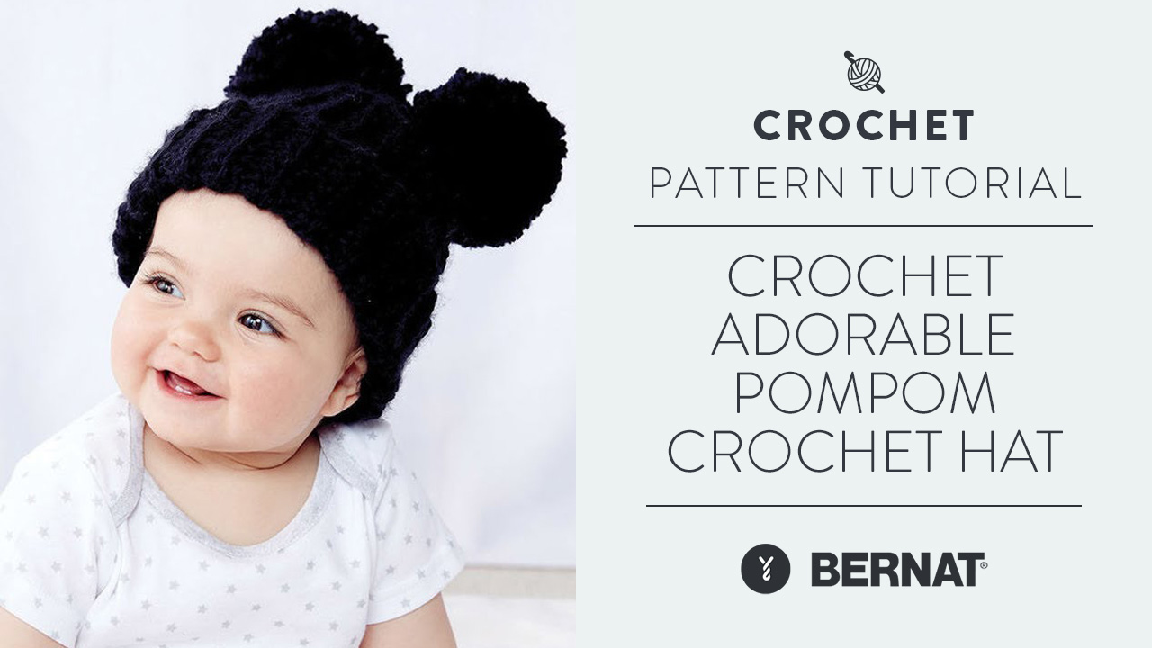 Crochet: Adorable Pompom Crochet Hat