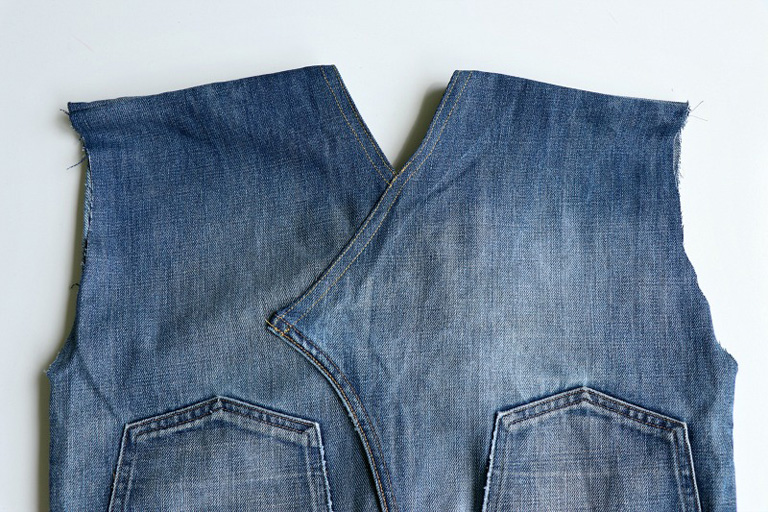 stitched denim as guided in step 6 photo