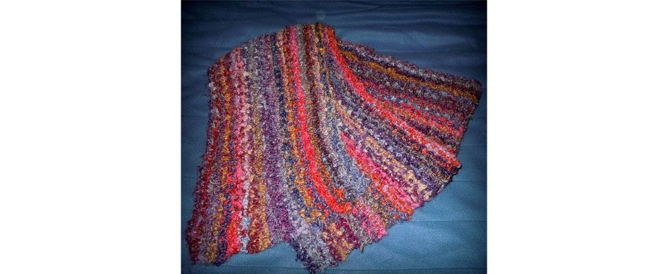 Luscious Patons Boucle Scarf