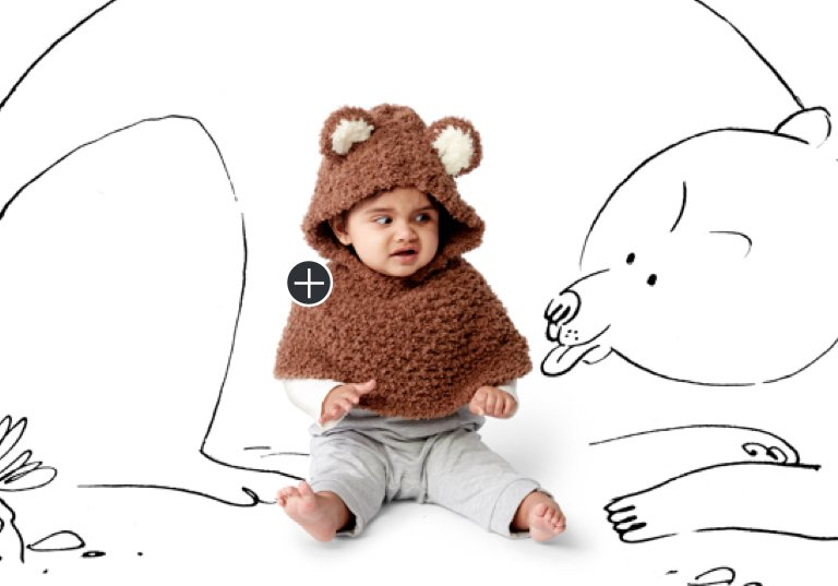 Easy Bear Cub Crochet Poncho