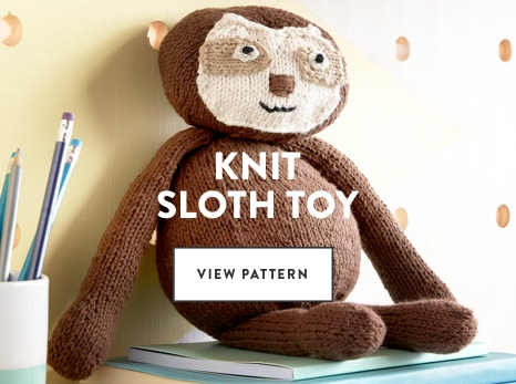 Knit Sloth Toy