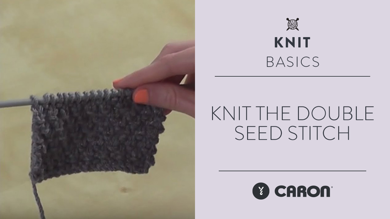 Knit the Double Seed Stitch