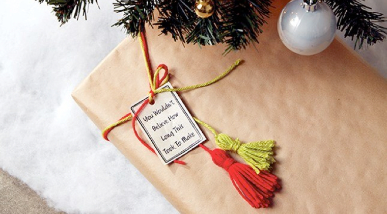 How to make a tassel gift topper: Step 6