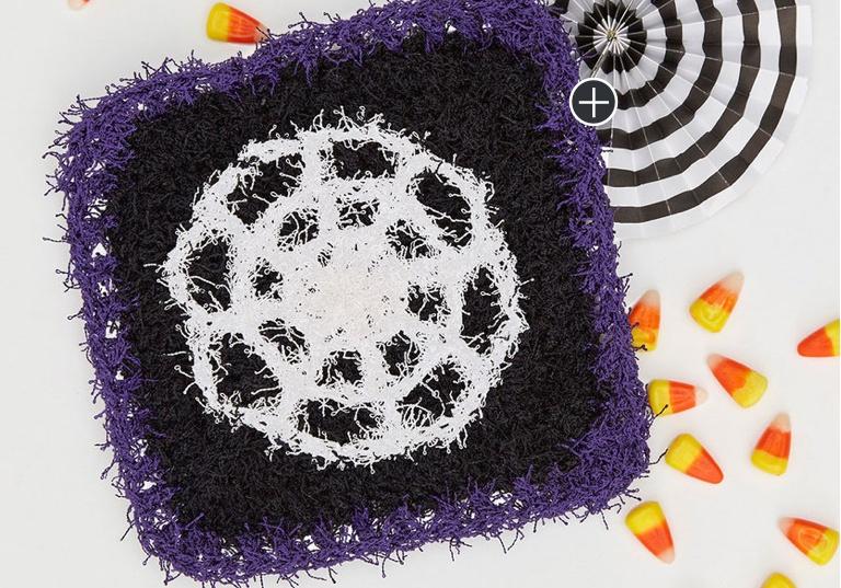 Easy Crochet Spooky Spider Web Scrubby