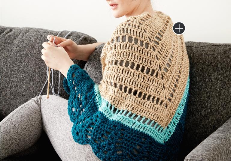 Intermediate Crochet Comfort Shawl